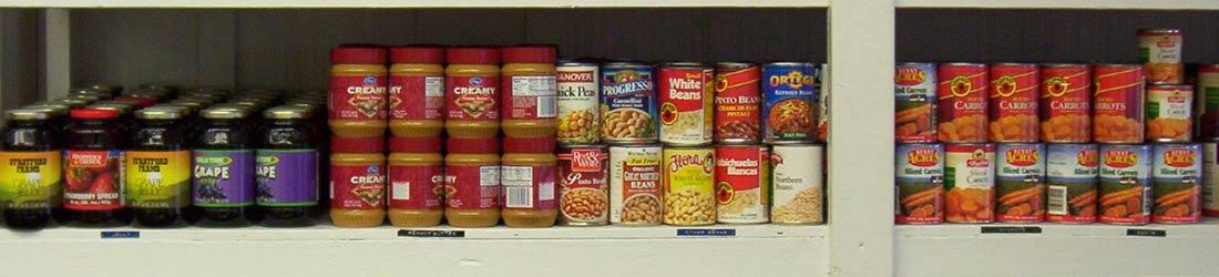 Kosher Food Pantry Shelves